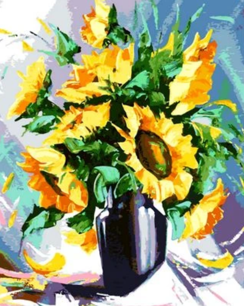Sunflower Diy Paint By Numbers Kits ZXQ825