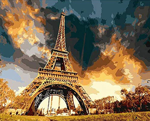 Landscape Eiffel Tower Diy Paint By Numbers ZXQ1224-22