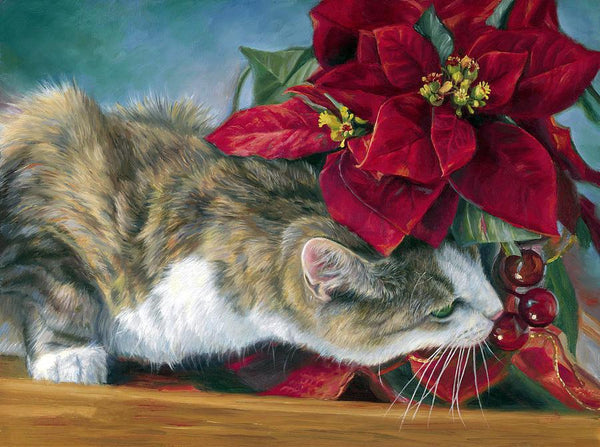 Cat In Flower Diy Paint By Numbers Kits PBN52182