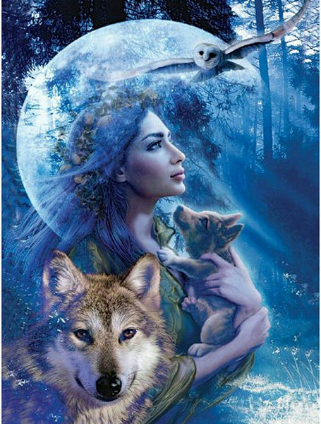 Beauty And Wolf Diy Painti By Numbers Kits VM55304