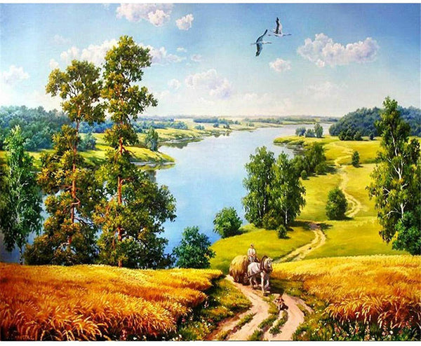 Scenery Paint by Numbers Kits DIY PBN59670