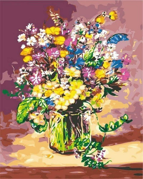 Flower In Bottle Diy Paint By Numbers Kits PBN90104