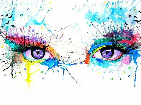 Portrait Eyes Diy Paint By Numbers PBN90465