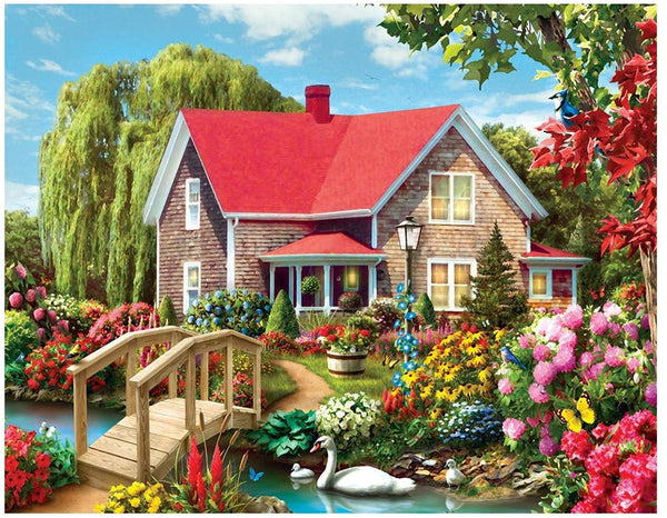 Landscape Cottage Diy Paint By Numbers Kits VM90787