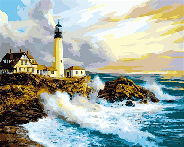 Landscape Lighthouse Paint By Numbers Kits VM91040