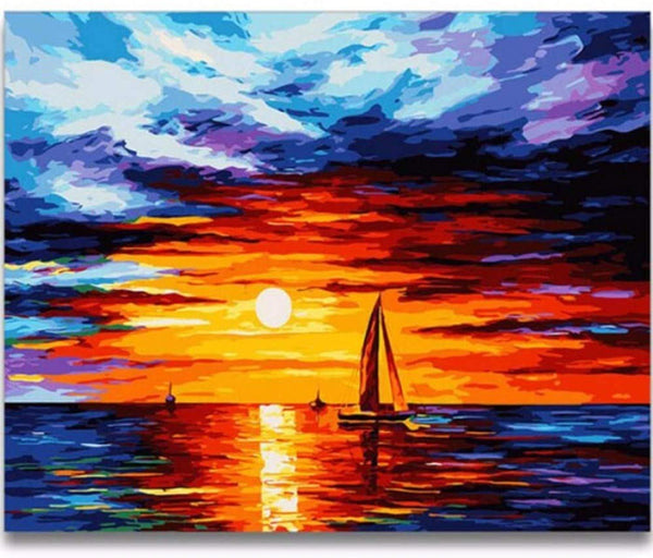 Landscape Boat Paint By Numbers Kits VM91067