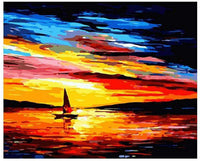 Landscape Boat Paint By Numbers Kits PBN91068