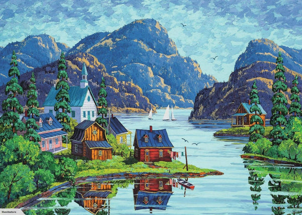 Landscape Town Diy Paint By Numbers Kits PBN91128