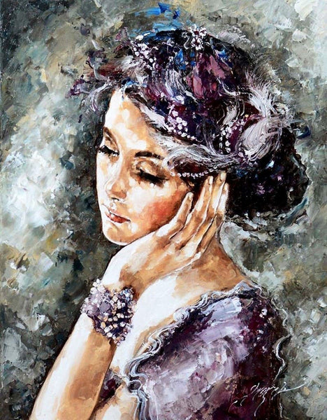 Portrait Gril Diy Paint By Numbers Kits PBN91276