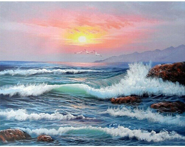Landscape Sea Diy Paint By Numbers Kits VM91324