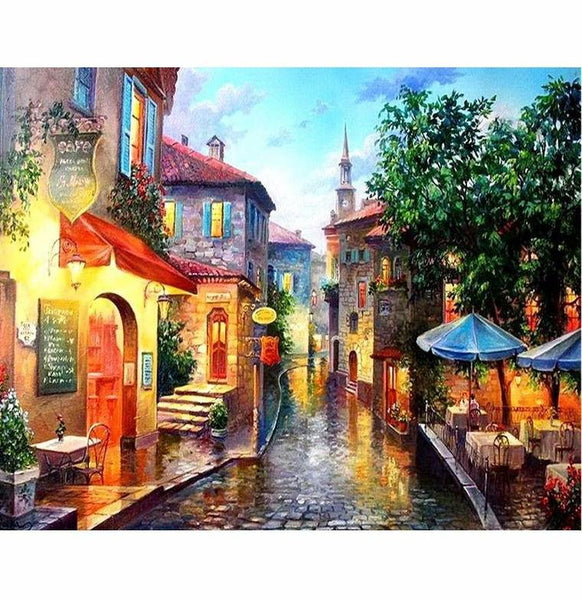 Landscape Town Diy Paint By Numbers Kits Uk VM91360