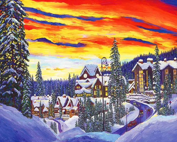 Landscape Snow Village Diy Paint By Numbers Kits PBN91465