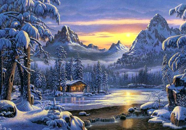 Landscape Snow Village Diy Paint By Numbers Kits PBN91468