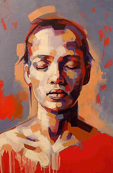 African Woman Portrait Diy Paint By Numbers Kits PBN93051