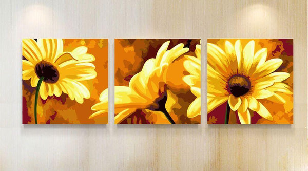3Pcs Multi Panel Diy Paint By Numbers Kits VM97630