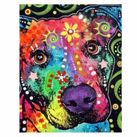 Colorful Dog Diy Paint By Numbers Kits UK VM97832