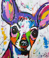 Colorful Dog Diy Paint By Numbers Kits PBN97843