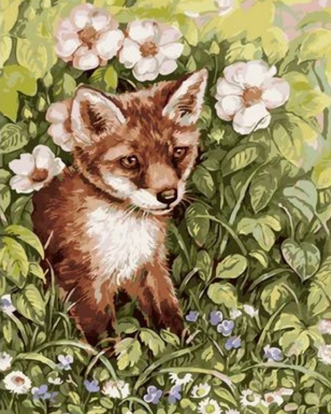Animal Fox Diy Paint By Numbers Kits ZXQ2514
