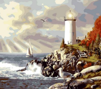 Lighthouse Diy Paint By Numbers Kits ZXQ097