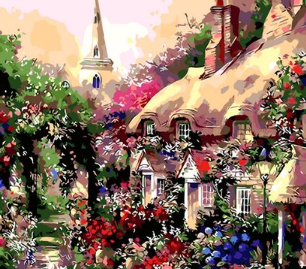 Landscape Cottage Diy Paint By Numbers Kits ZXQ104