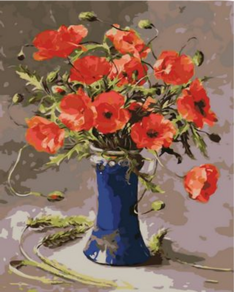Poppy Flower Diy Paint By Numbers Kits ZXQ1058