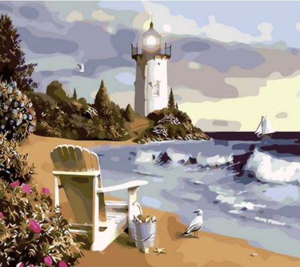 Lighthouse Diy Paint By Numbers Kits ZXQ118
