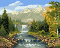 Landscape Mountain Lake Diy Paint By Numbers Kits ZXQ1216-26