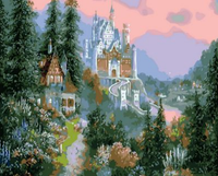 Landscape Castle Diy Paint By Numbers Kits ZXQ1356
