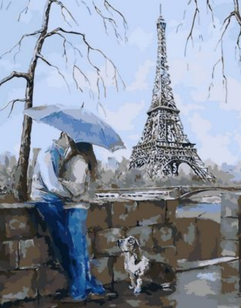 Landscape Eiffel Tower Diy Paint By Numbers Kits ZXQ1435