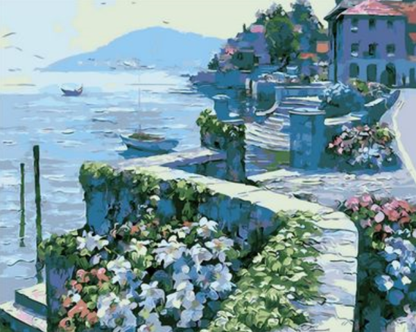 Landscape Seaside Town Diy Paint By Numbers Kits ZXQ1466