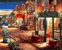 Landscape Street Diy Paint By Numbers Kits ZXQ1483