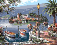 Landscape Town Diy Paint By Numbers Kits ZXQ1507
