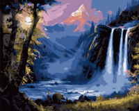 Landscape Waterfall Diy Paint By Numbers Kits ZXQ1709-23