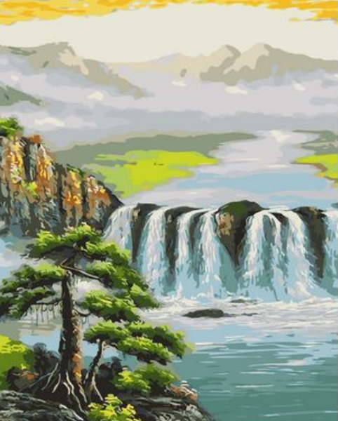 Landscape Waterfall Diy Paint By Numbers Kits ZXQ1979-22