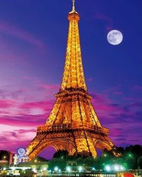 Landscape Eiffel Tower Diy Paint By Numbers Kits ZXQ2169-23