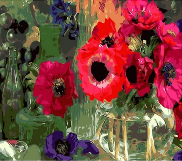 Poppy Flower Diy Paint By Numbers Kits ZXQ227