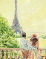 Landscape Eiffel Tower Diy Paint By Numbers Kits ZXQ2330-23