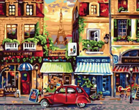 Landscape Street Diy Paint By Numbers Kits ZXQ2426-23