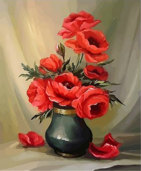 Poppy Flower Diy Paint By Numbers Kits ZXQ2671