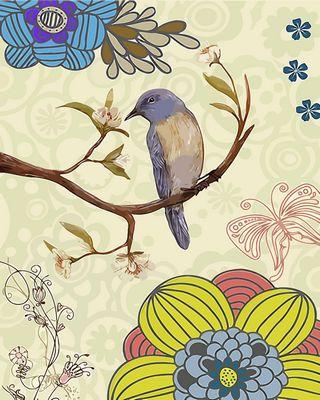 Flying Animal Bird Diy Paint By Numbers Kits ZXQ2731