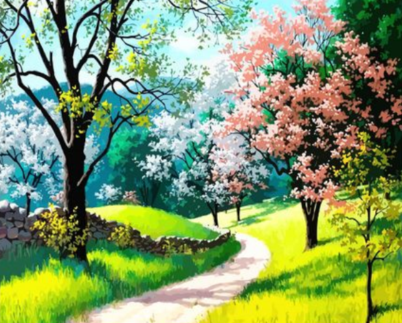 Landscape Forest Diy Paint By Numbers Kits ZXQ2809