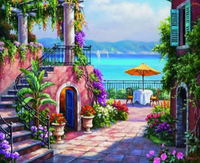 Landscape Seaside Town Diy Paint By Numbers Kits ZXQ2884-22