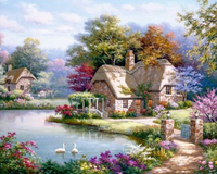 Landscape Cottage Diy Paint By Numbers Kits ZXQ2943-23