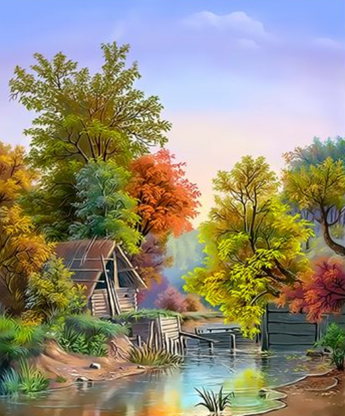 Landscape Village Paint By Numbers Kits ZXQ3132