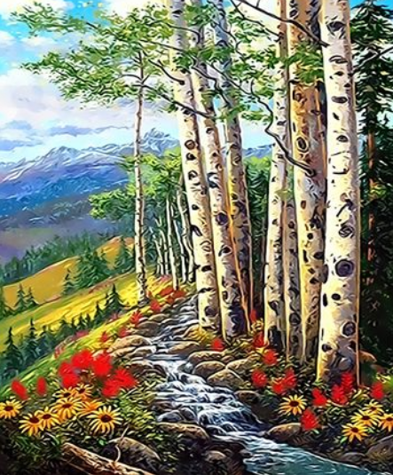 Landscape Forest Diy Paint By Numbers Kits ZXQ3366 VM80011
