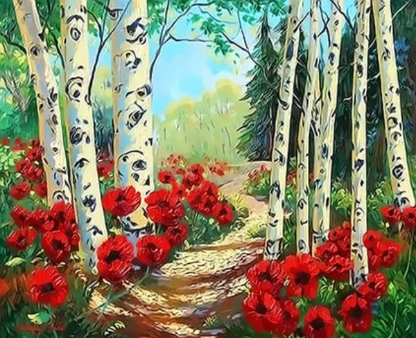 Landscape Forest Diy Paint By Numbers Kits ZXQ3387