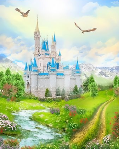 Landscape Castle Diy Paint By Numbers Kits ZXQ3680
