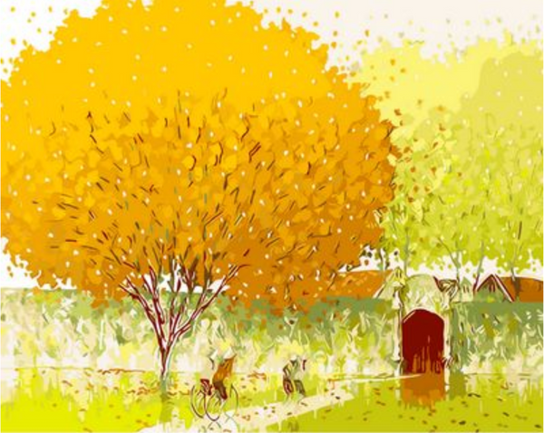 Landscape Tree Diy Paint By Numbers Kits ZXQ474