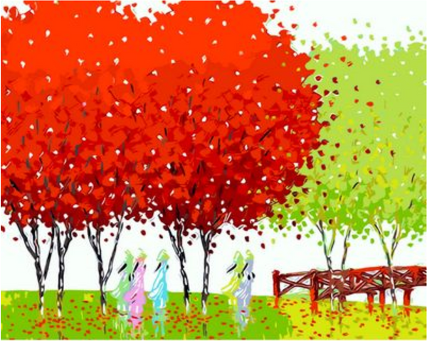 Landscape Tree Diy Paint By Numbers Kits ZXQ481