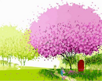 Landscape Tree Diy Paint By Numbers Kits ZXQ483